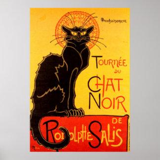 Tournee du Chat Noir Cat Poster