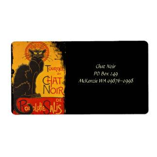 Tournee du Chat Noir Shipping Label