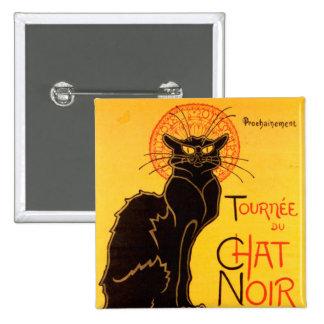 Tournée du Chat Noir - Vintage Poster 2 Inch Square Button