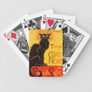 Tournée du Chat Noir - Vintage Poster Bicycle Playing Cards