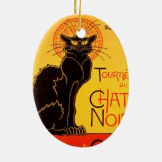 Tournée du Chat Noir - Vintage Poster Ceramic Oval Ornament