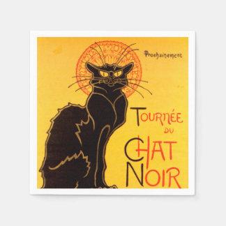 Tournée du Chat Noir - Vintage Poster Disposable Napkins