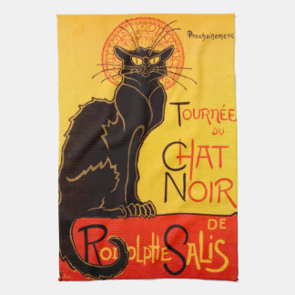 Tournée du Chat Noir - Vintage Poster Kitchen Towel