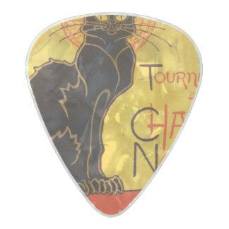 Tournée du Chat Noir - Vintage Poster Pearl Celluloid Guitar Pick