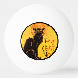 Tournée du Chat Noir - Vintage Poster Ping Pong Ball