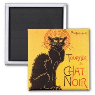 Tournée du Chat Noir - Vintage Poster Square Magnet