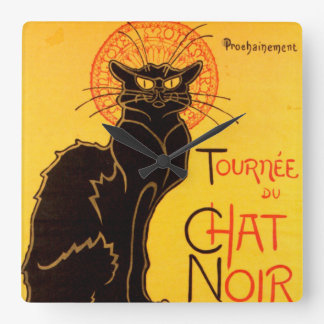 Tournée du Chat Noir - Vintage Poster Square Wall Clock