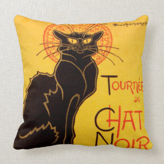 Tournée du Chat Noir - Vintage Poster Throw Pillow