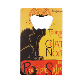 Tournée du Chat Noir - Vintage Poster Wallet Bottle Opener
