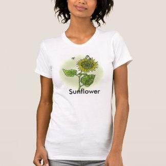 Tournesol avec beau petit chichadee t-shirts
