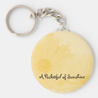 Tournesol, une pleine poche de porte - clé de porte-clé rond
