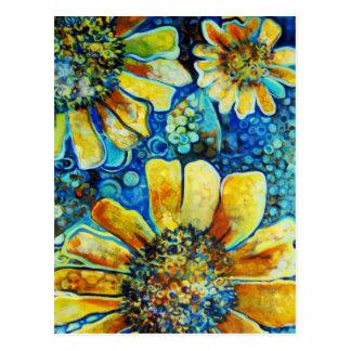 Tournesols, cartes postales de beaux-arts