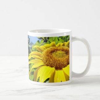 Tournesols qu'un beau jour commence par le soleil  tasse à café