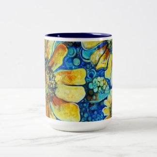 Tournesols, tasses de café de beaux-arts