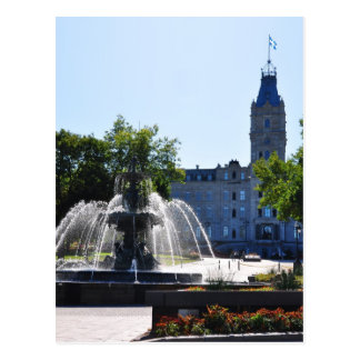 Tourny Water Fountain Parliament Quebec Postcard