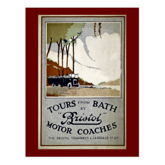 Tours from Bath by Bristol Postcard