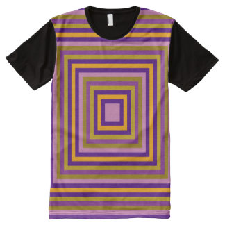 Tous ajustent multicolore t-shirt tout imprimé