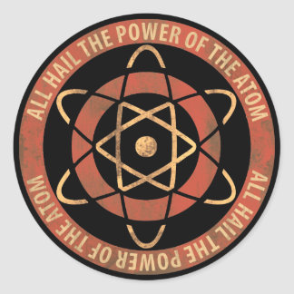 Tous grêlent la puissance du logo des années 1950 sticker rond