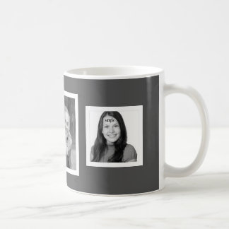 Tout arrière - plan de couleur 3 photos mug blanc