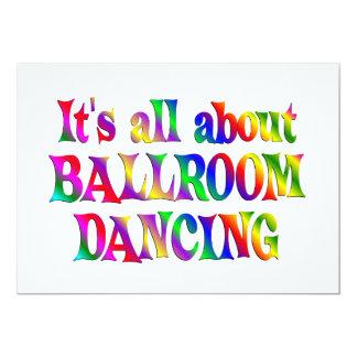 Tout au sujet de la danse de salon carton d'invitation  12,7 cm x 17,78 cm
