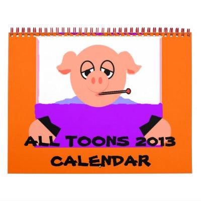 Tout le calendrier de Toons 2013