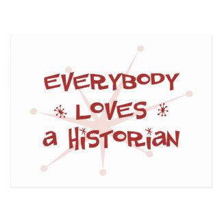 Tout le monde aime un historien carte postale