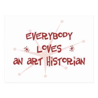 Tout le monde aime un historien d art cartes postales