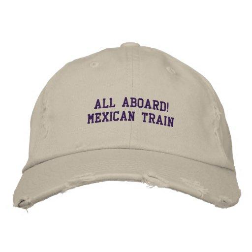 TOUT LE TRAIN À BORD MEXICAIN - CHAPEAU CASQUETTES BRODÉES