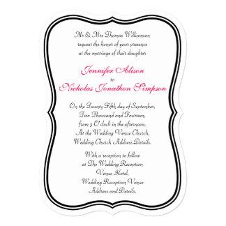 Tout mariage formé par frontière simple de couleur carton d'invitation  12,7 cm x 17,78 cm