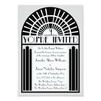 Toutes invitations audacieuses de mariage de style