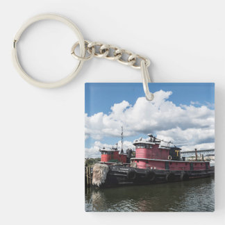 Tow Boat Key Chain