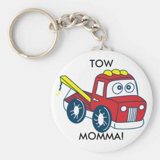 TOW MOMMA! BASIC ROUND BUTTON KEYCHAIN