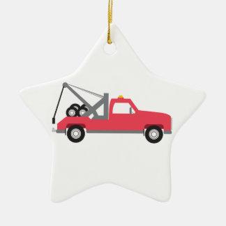Tow Truck Ceramic Ornament