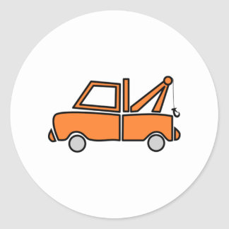 Tow Truck Classic Round Sticker