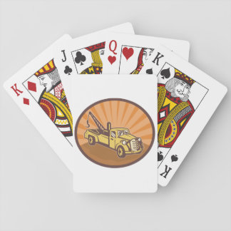 Tow Truck Playing Cards