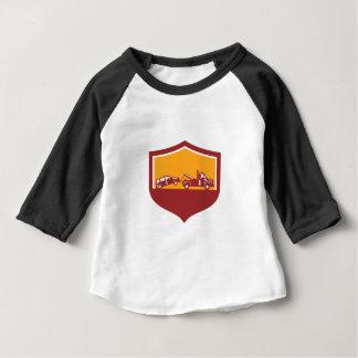 Tow Truck Towing Car Shield Retro Baby T-Shirt