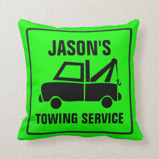 Tow Truck Your Text and Color Throw Pillow