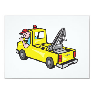 Tow Wrecker Truck Driver Thumbs Up Invite