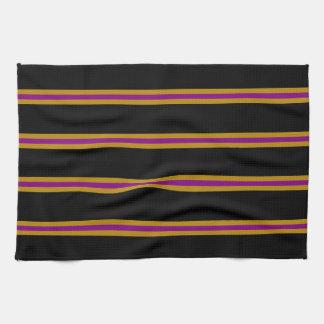 Towel - Black, Goldenrod, Purple