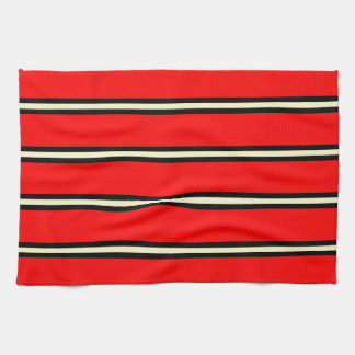 Towel - Red, Black, Lemon Chiffon