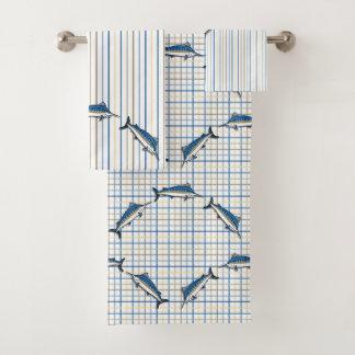 Towel Set - Blue Marlin Fishing