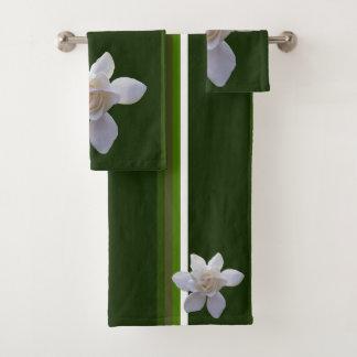 Towel Set - Gardenia on Stripes