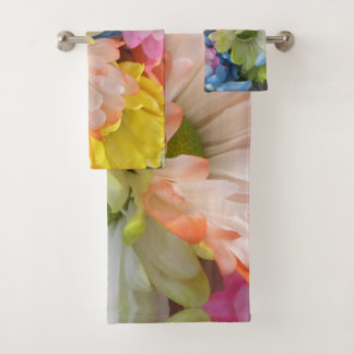Towel Set - Multi-Colored Daisies II