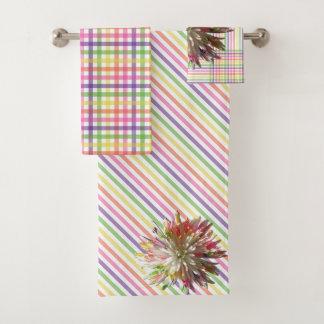 Towel Set - Painted White Spider Mum
