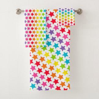 Towel Set - Rainbow Stars