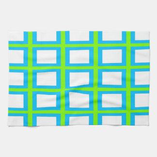 Towel - White / Deep Sky Blue / Lawn Green
