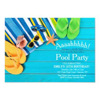 Towels and Flip Flops Invitation
