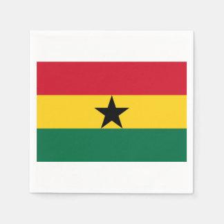 Towels Ghanese flag. Paper Napkin