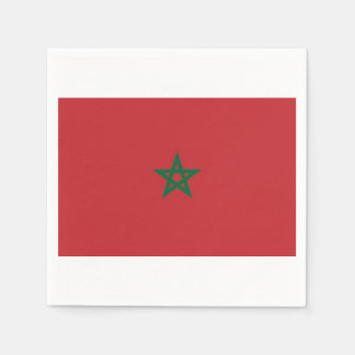 Towels Moroccan flag. Disposable Napkin
