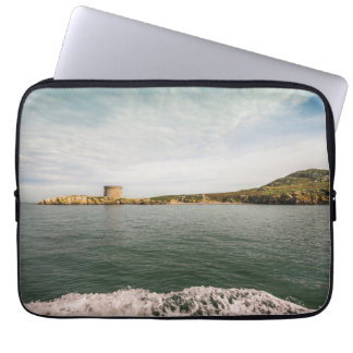Tower and green Irish cliffs Laptop Sleeve